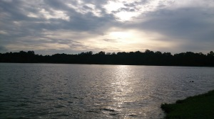 Breathtaking view of Upper Peirce Reservoir. A scene of great tranquility.
