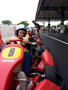 At Changi Go-karting place