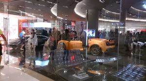 Check out these luxury car displays within Siam Paragon - they must have used a crane to bring them up onto the 2nd floor.