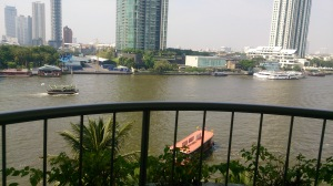 View of Chao Phraya River from my Room